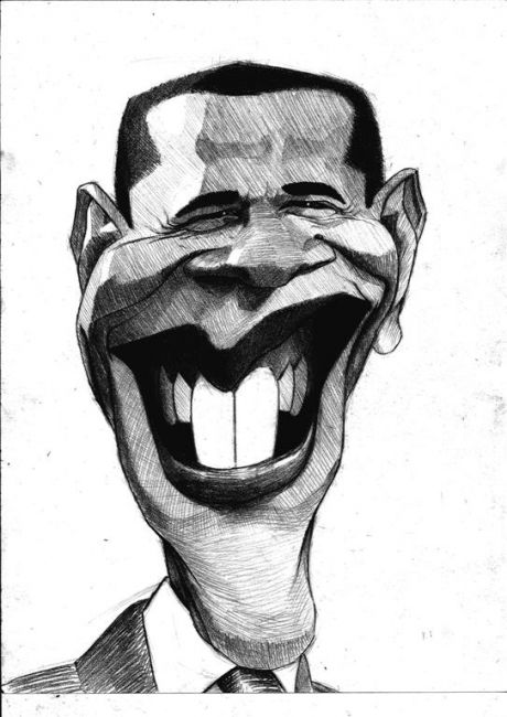 Caricature de Barack Obama
