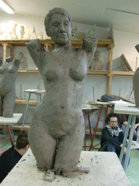Buste féminin (face)