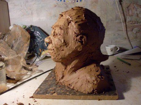 Portrait inventé (profil gauche)