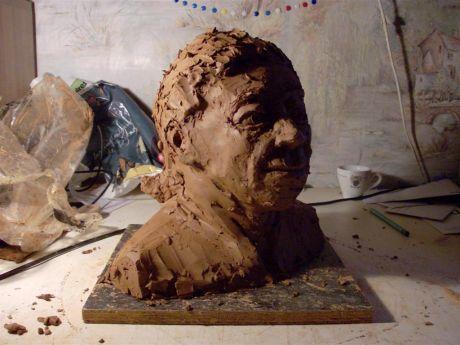 Portrait inventé (trois-quarts face droit)